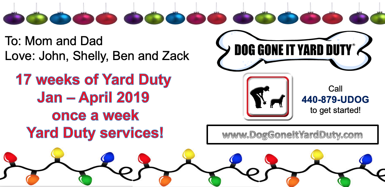 Dog Gone It Yard Duty - Bargain Dog Waste Services Gift Certificates on Sale NOW!