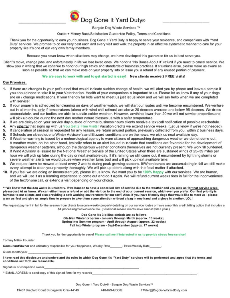 PNG Money Back Guarantee - Client Print