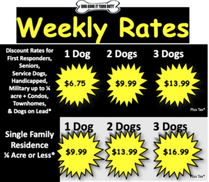 Weekly Rates  2019